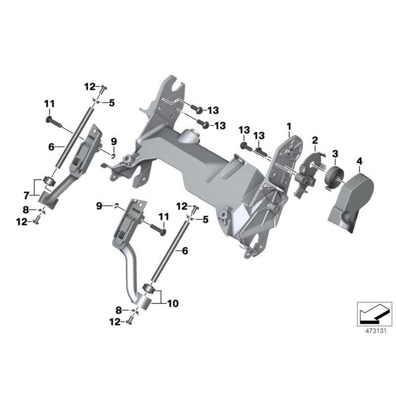 Genuine BMW Front support, middle (46637726524)