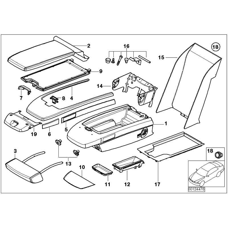 Genuine BMW Armrest panel (72607051761)