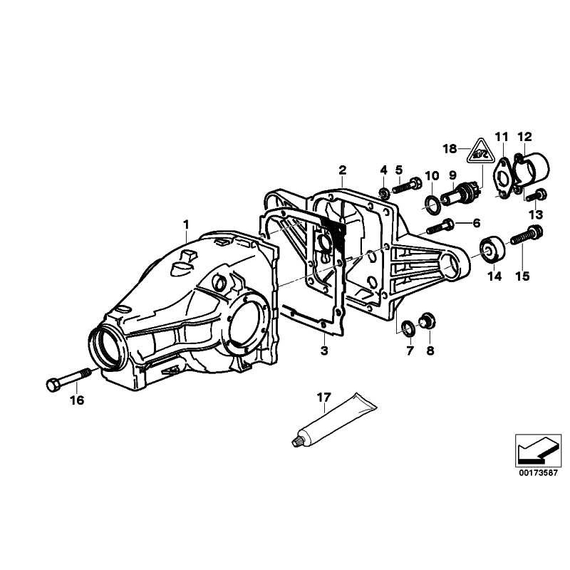 Genuine BMW Transmission cover with rubber mounting (33111213046)