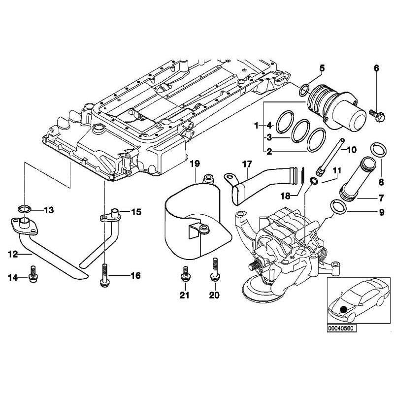 Genuine BMW Solenoid valve (SOLV) (11131407697)