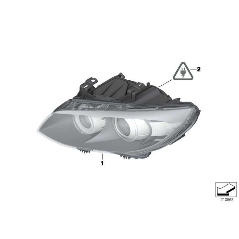 Genuine BMW AHL-xenon headlight, left (63117273211)