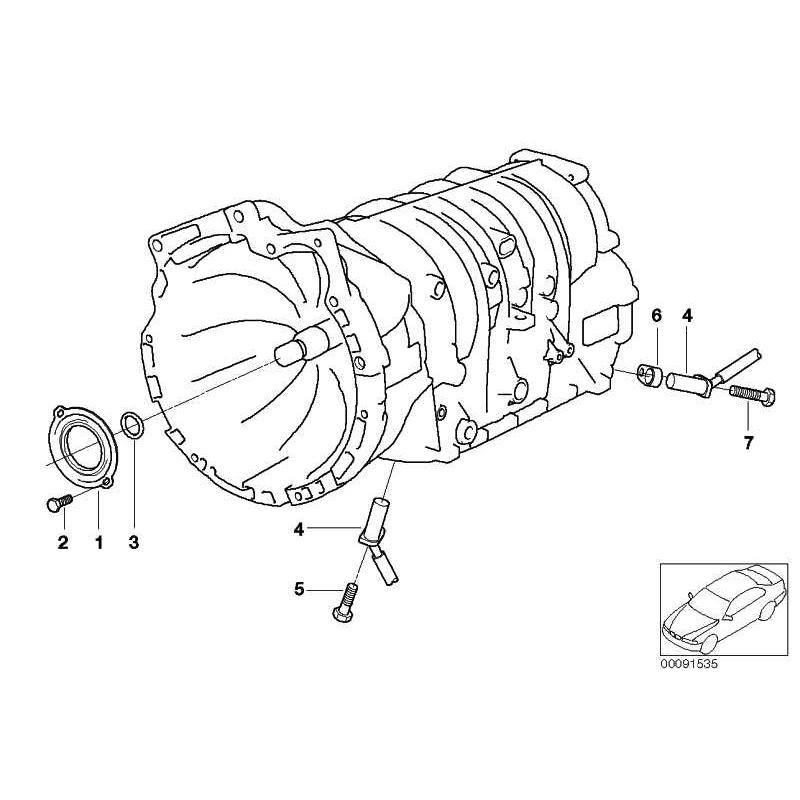 Genuine BMW TURBINE SHAFT O-RING (24121422247)