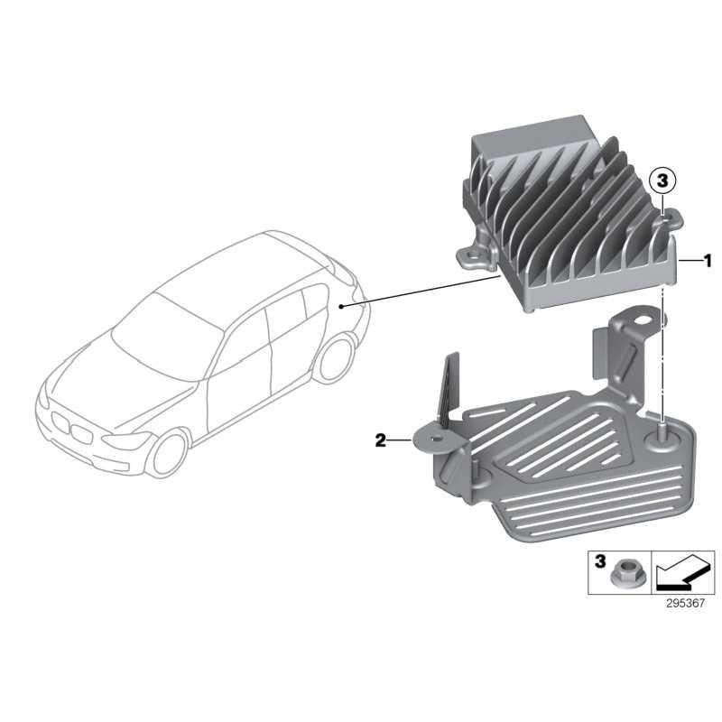 Genuine BMW Control unit, Active Sound Design (65129343317)
