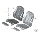 Genuine BMW Sports seat cover leather (52107295126)