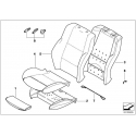 Genuine BMW Sports seat cover leather (52107159878)