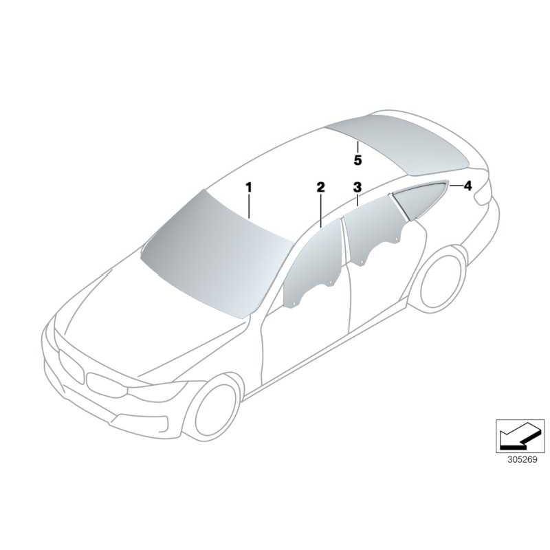 Genuine BMW Windscreen, green, rain/light/condens.s. (51317285938)