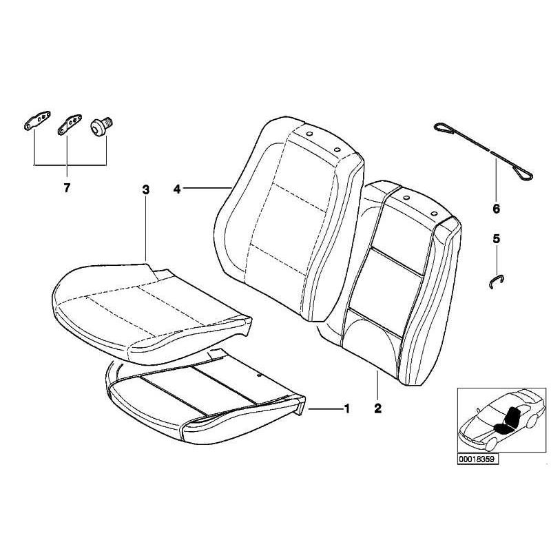 Genuine BMW Seat cover cloth (52103421774)
