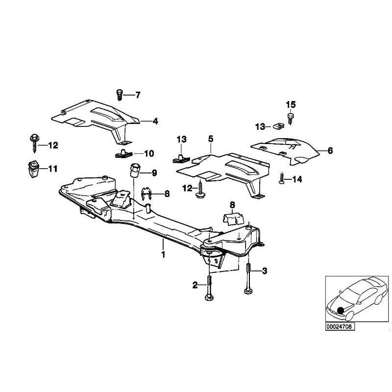 Genuine BMW Front axle support (31111139660)