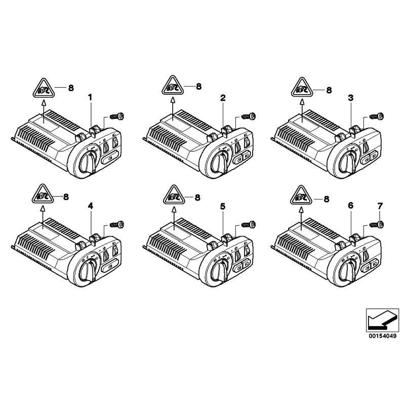 Genuine BMW Switch unit, light / foglamps (61319146280)