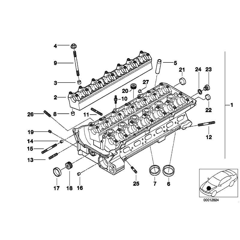 Genuine BMW Cylinder head with bearing ledges (11127514540)