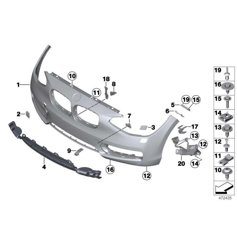Genuine BMW Bumper panel, Lines, primed, front (51117292972)