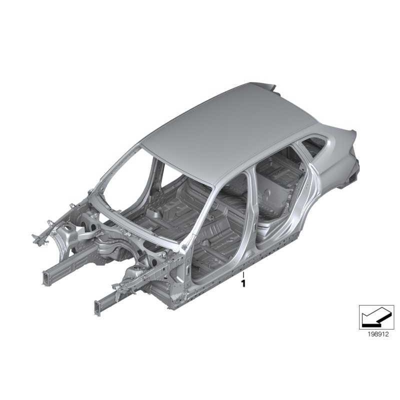 Genuine BMW Body skeleton (41002993115)